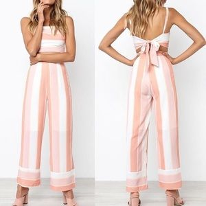 Tops - Pink two piece outfit